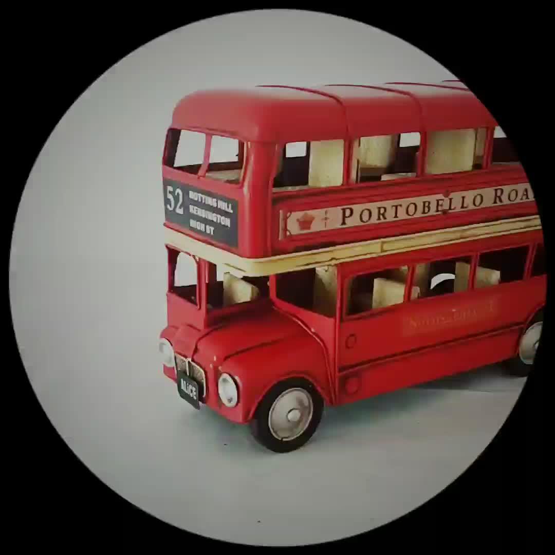 car model metal bus model London bus model home decor