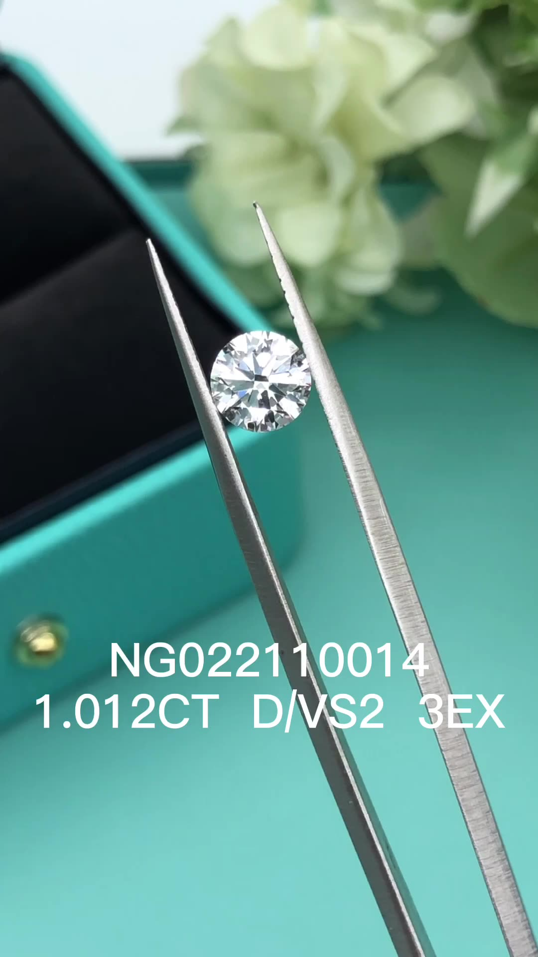 Loose 1carat D VS2 3EX good quality synthetic HPHT CVD lab grown diamond