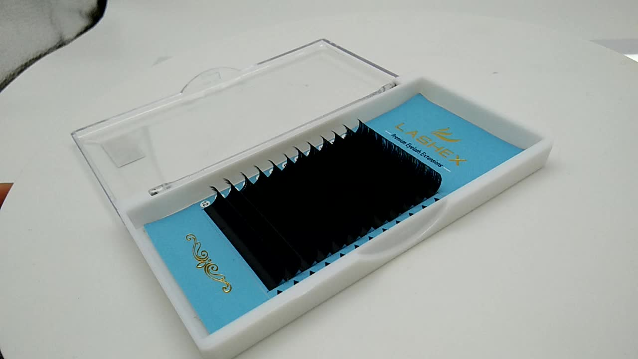 Korea Private Label Russia 3D Individual Eyelash Extention 0.07 Thickness For 6-15mm Eyelash Extention