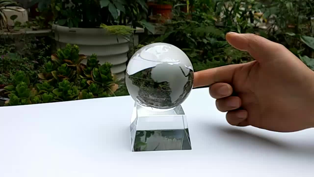 personal fengshui photography tool solid Transparent clear k9 80mm crystal glass ball for decoration