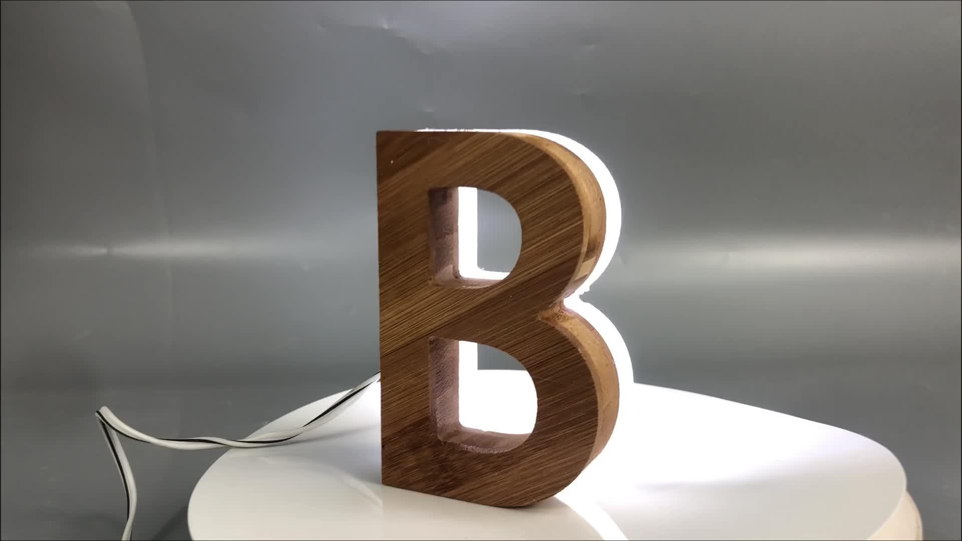 Guangzhou Acrylic Wooden Aluminium Trim Strip Board Foam Backlit Brightest 3D Light Led Big Channel Letter Sign