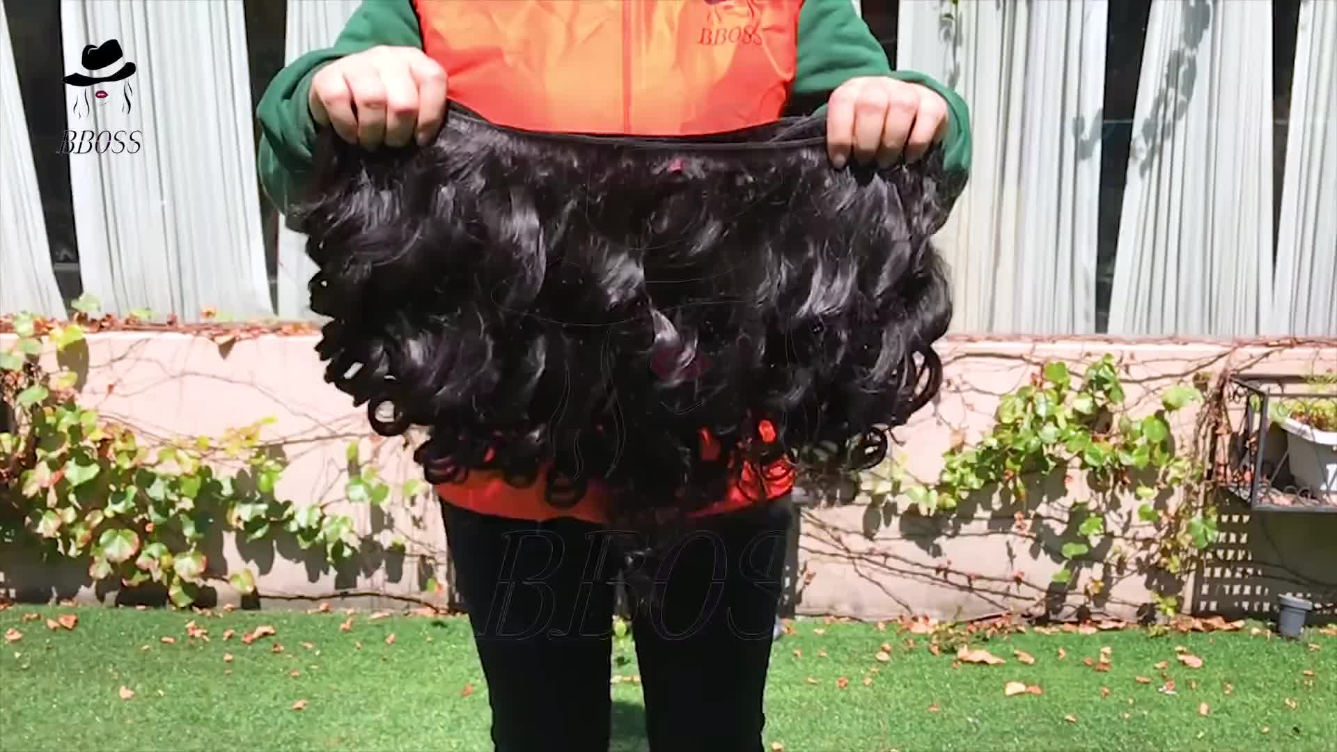 Guangzhou usine de cheveux premières cheveux temple indien de l'inde, gros cheveux indiens en inde, gros faisceau de cheveux vendeurs de cheveux