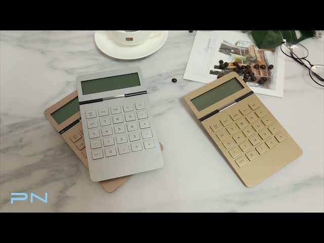 Battery Powered Office Desk Accessories Rose Gold Color 10 Digit Display Calculator