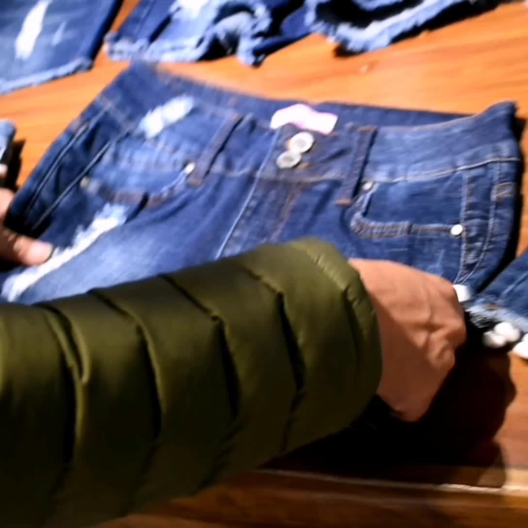 卸売ロングデザイン写真ジャンブルー女の子セクシーなデニム女性鉛筆伸縮性女の子膝丈スカートストレッチ