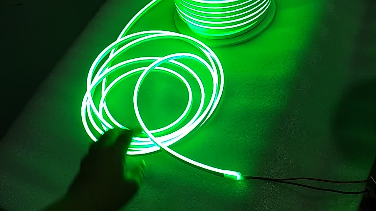 Super Bright mini yellow led neon flexible strip 120led m 6mm 2835 smd silicone for building