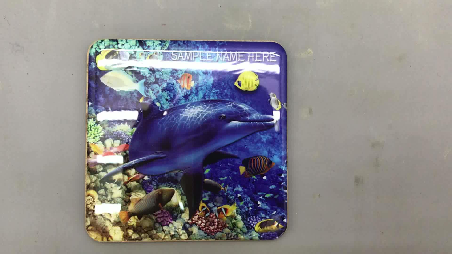 Atacado personalizado impressão golfinho de madeira lembrança
