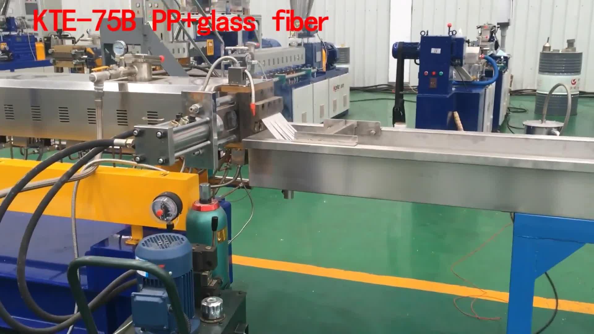 China mejor venta de doble tornillo de fibra de vidrio Material de plástico PP maquinaria extrusora