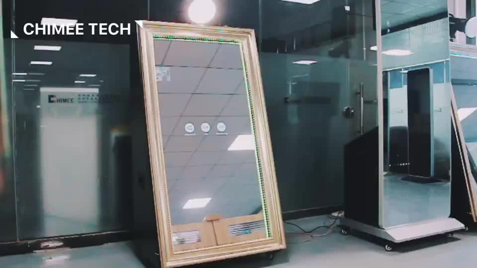 Vending Selfie Magic Mirror Photo Booth with Space for DNP Printer & Canon Camera & Godox light