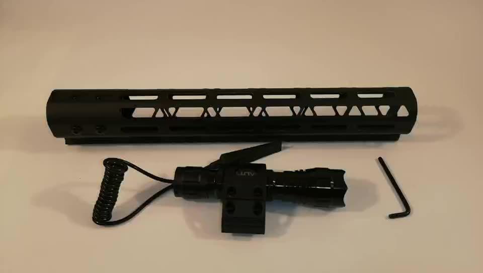 "Jialitte 1"" Flashlight Mount 45 Degree for M-lok Rail Systems for mlok flashlight mount"