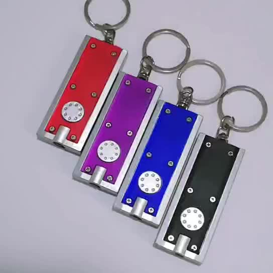 Promotional Custom Led Light Key Chain Logo Printed Key Chain  Mini Led Flashlight Keychain With Logo