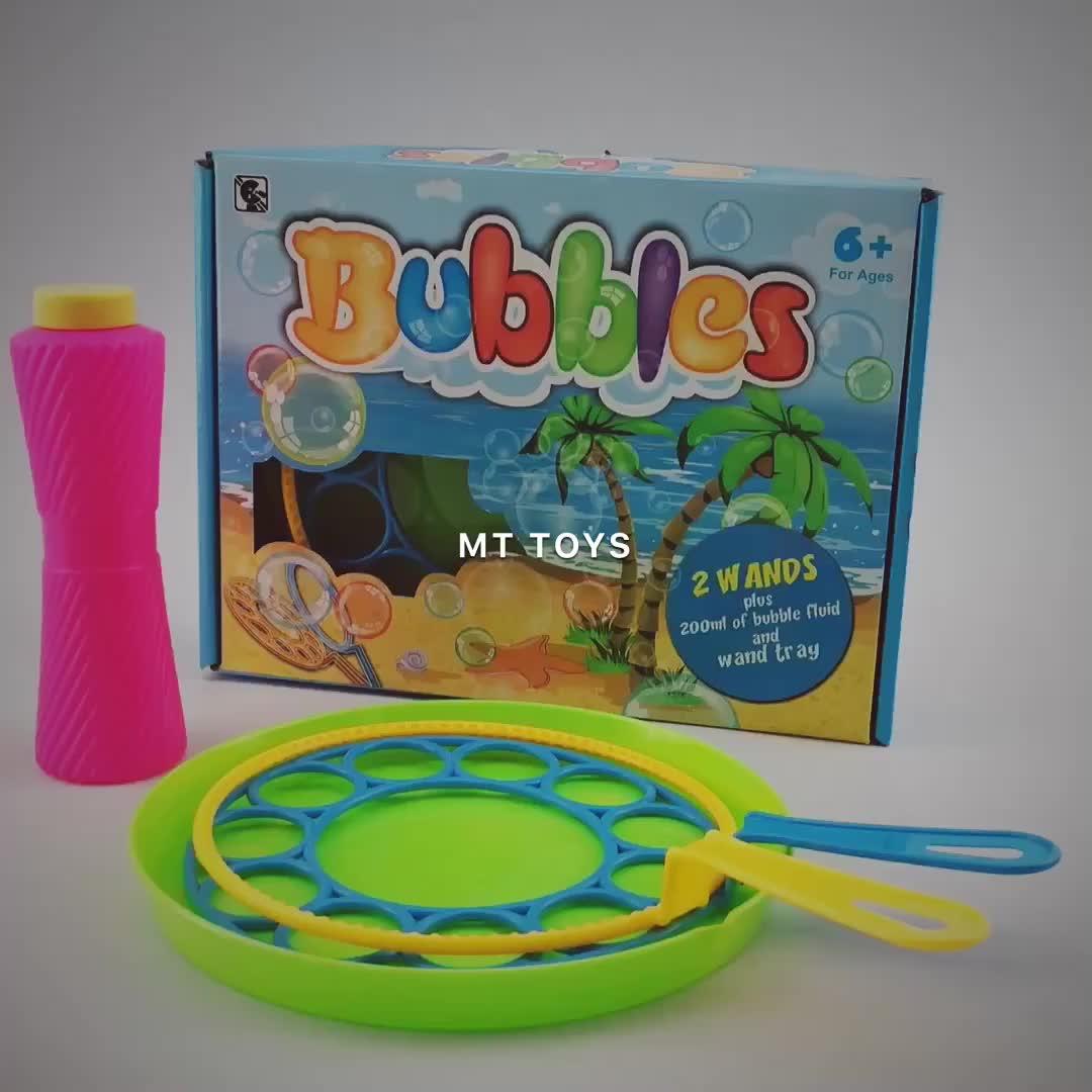 Yaz plastik oyuncaklar sihirli süper sabun köpüğü seti büyük kabarcık değnek