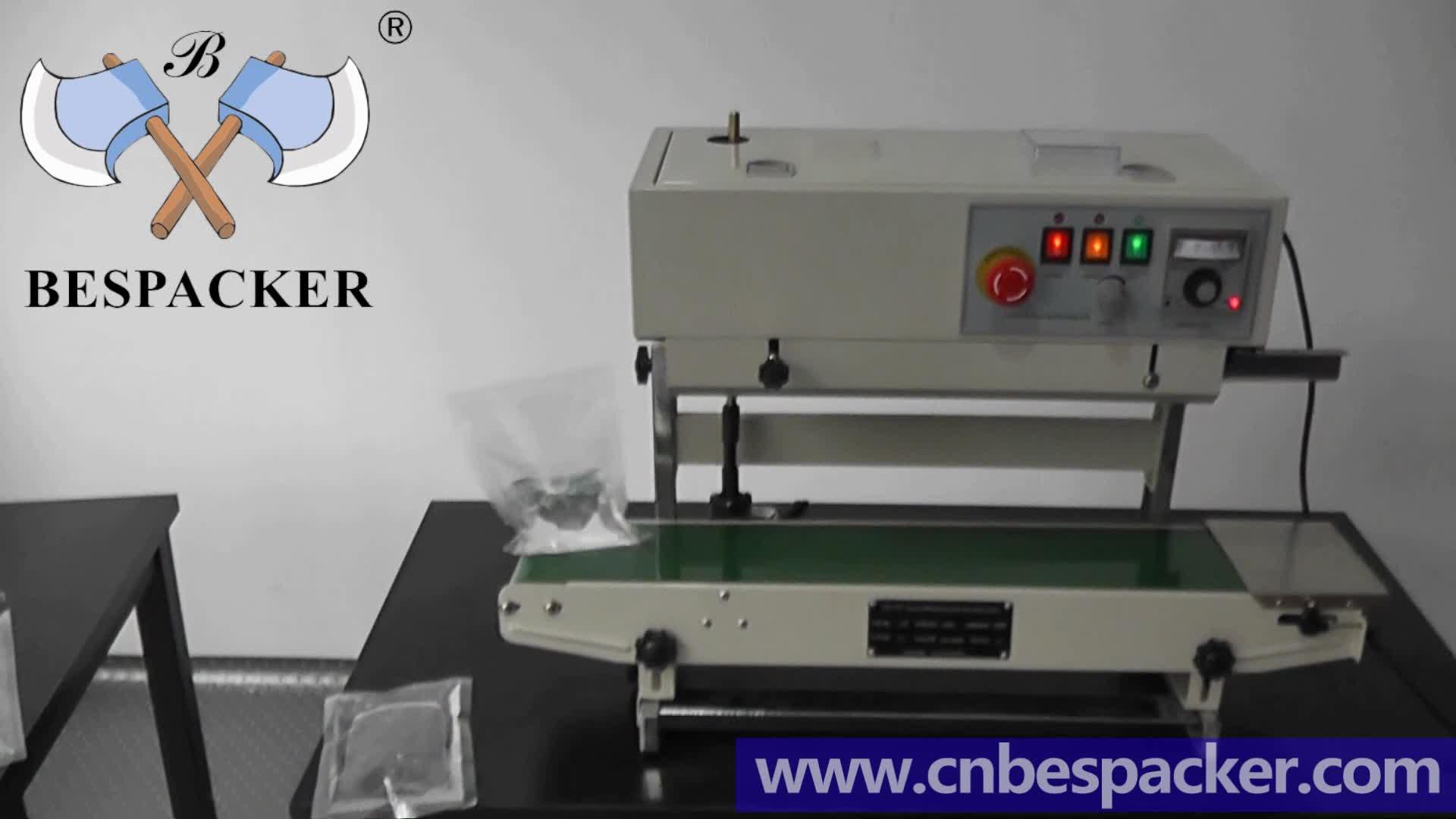 Bespacker FR-770LW Date printed plastic aluminum foil kraft paper automatic continuous bag heat sealing sealer machine