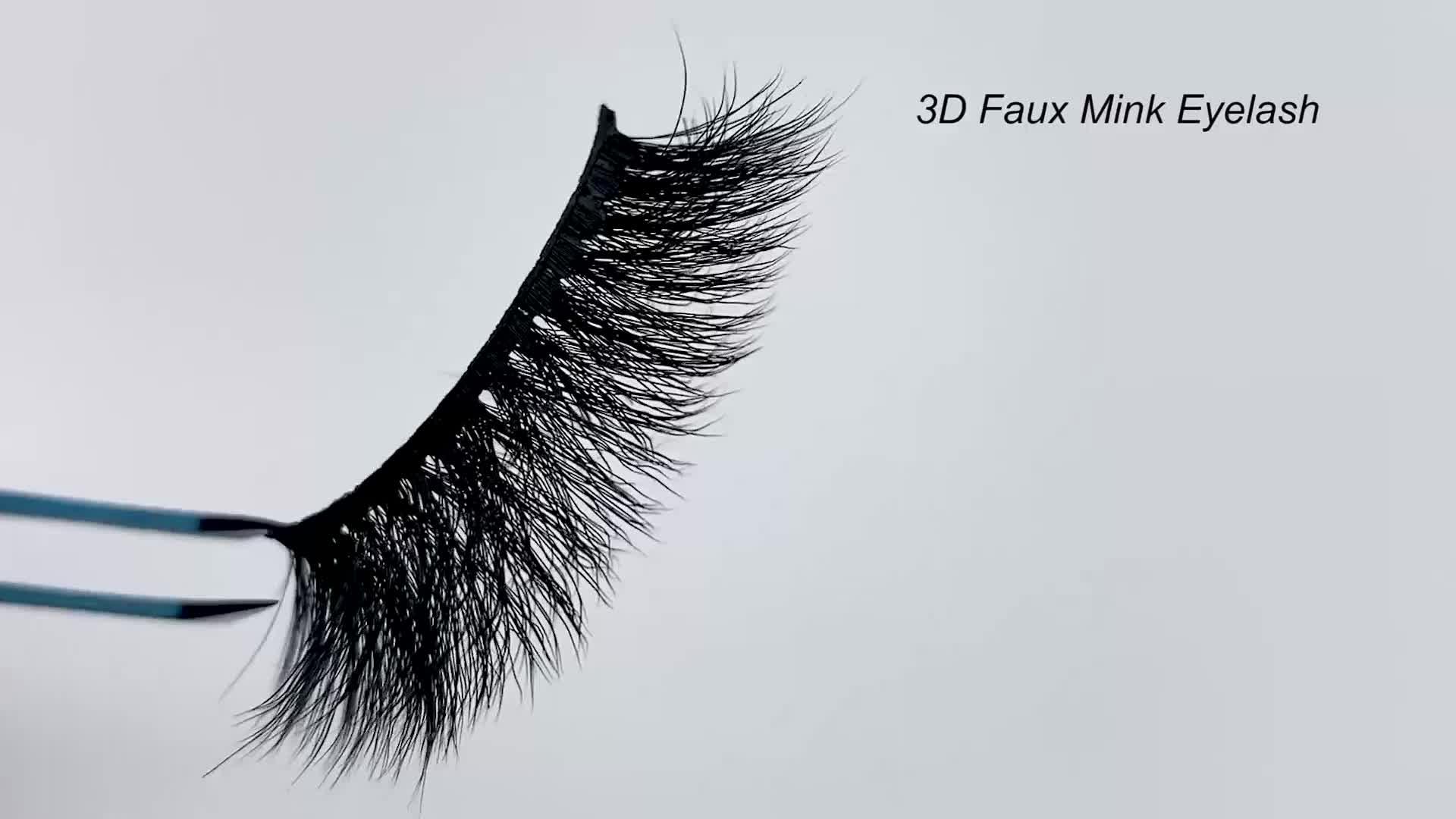 Заказная упаковка коробка натуральные супер мягкие 25 мм 3D Искусственные норковые ресницы