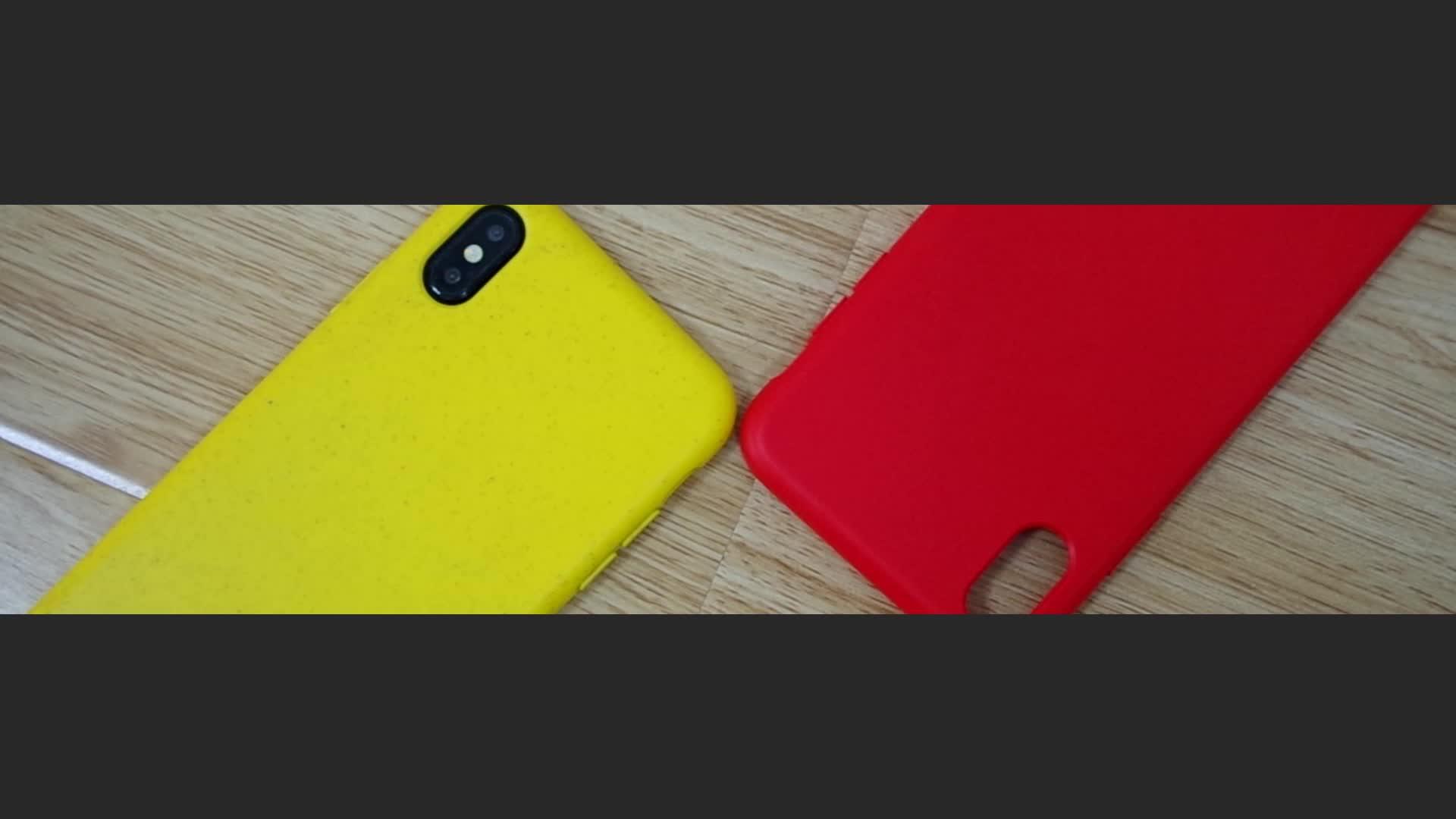 Caso De Plástico Reciclado Eco Friendly Composto Bio Degradável PLA Biodegradável Palhas de Trigo Orgânica Caixa Do Telefone para o iphone 11, xi
