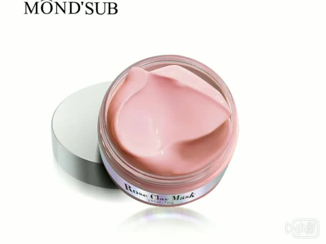 Clear skin firming and pore cleansing rose pink pure clay face mask