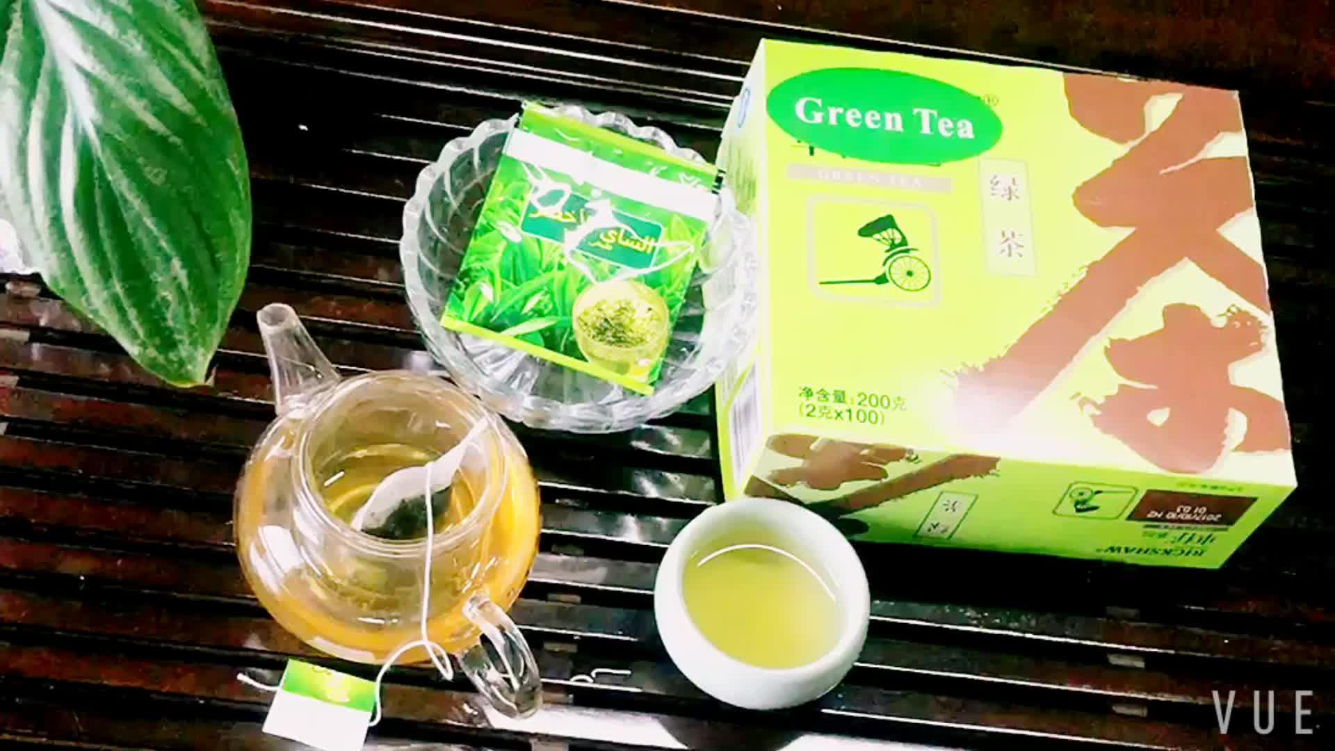有機緑茶袋詰めパッキング 20 ティーバッグ箱につきプライベートラベルと愛らしい価格