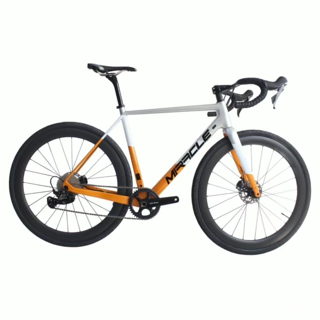 GR029 חצץ T1000 פחמן מסגרת אופני R8070 Di2 11S 700C כביש אופניים חצץ אופניים