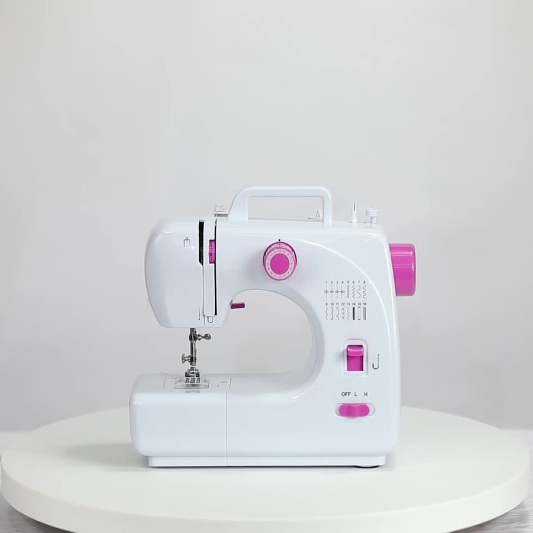 FHSM-508 Home overlock Button Sewing Machine with led light
