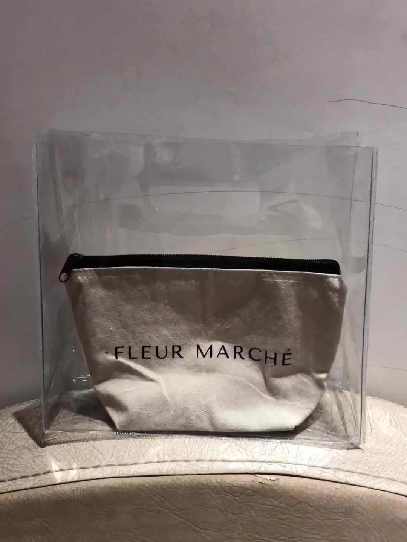 명확한 쇼핑 가방 보안 작업 토트 어깨 가방 여성 핸드백 PVC 비치 특대 Cluth 지갑