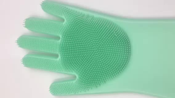 Durable Heat and Slip Resistant Long Rubber Silicone Glove