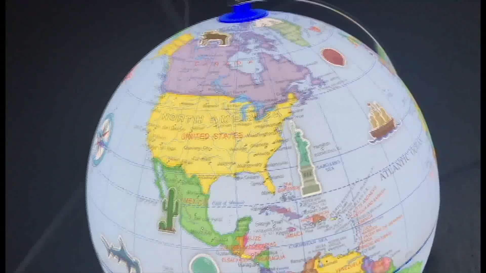 สมจริง 3D ฉาก, Augmented Reality การศึกษาภูมิศาสตร์โลก, ออกแบบการ์ตูน
