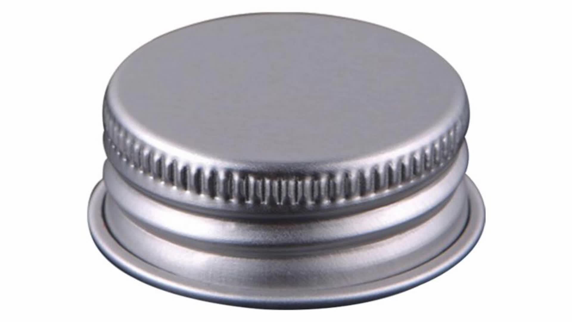22 millimetri Argento Alluminio Lug Tappo A Vite Con Filler Pezzo Per La Bottiglia Di Olio di Vetro