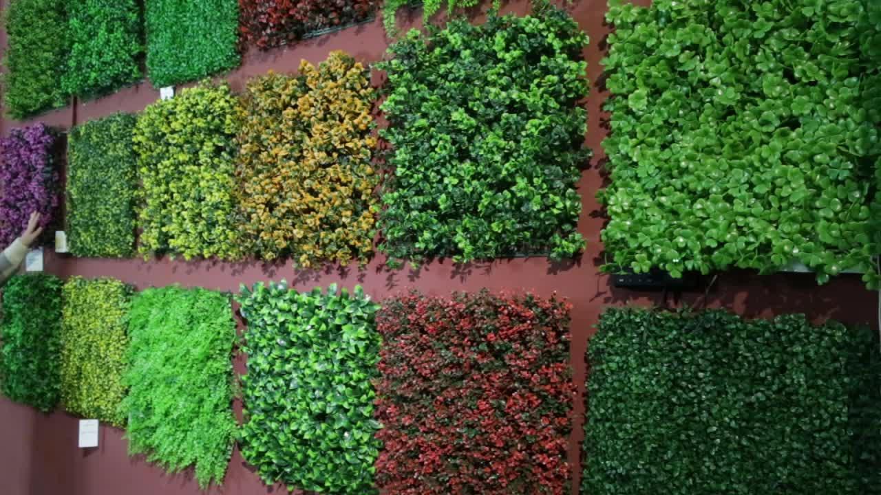 """20 """"x 20"""" Özelleştirilmiş Yapay Yeşillik Çit Yapay Şimşir Bitkiler Açık Havada Mahremiyet Yaşayan Peyzaj Çim Duvar Dekor için"""