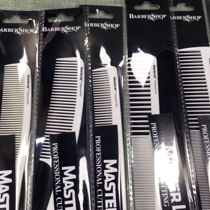 Masterlee Marque Salon Professionnel Utilisation Coiffeur Blanc Carbone Peigne À Cheveux de bonne qualité