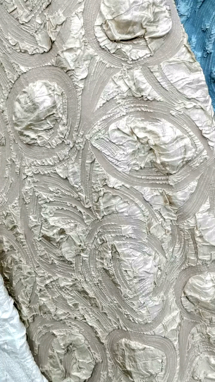 Embossed Stretch Jacquard Fabric for Garment ladies evening dress Suits Sets Occasion Garments