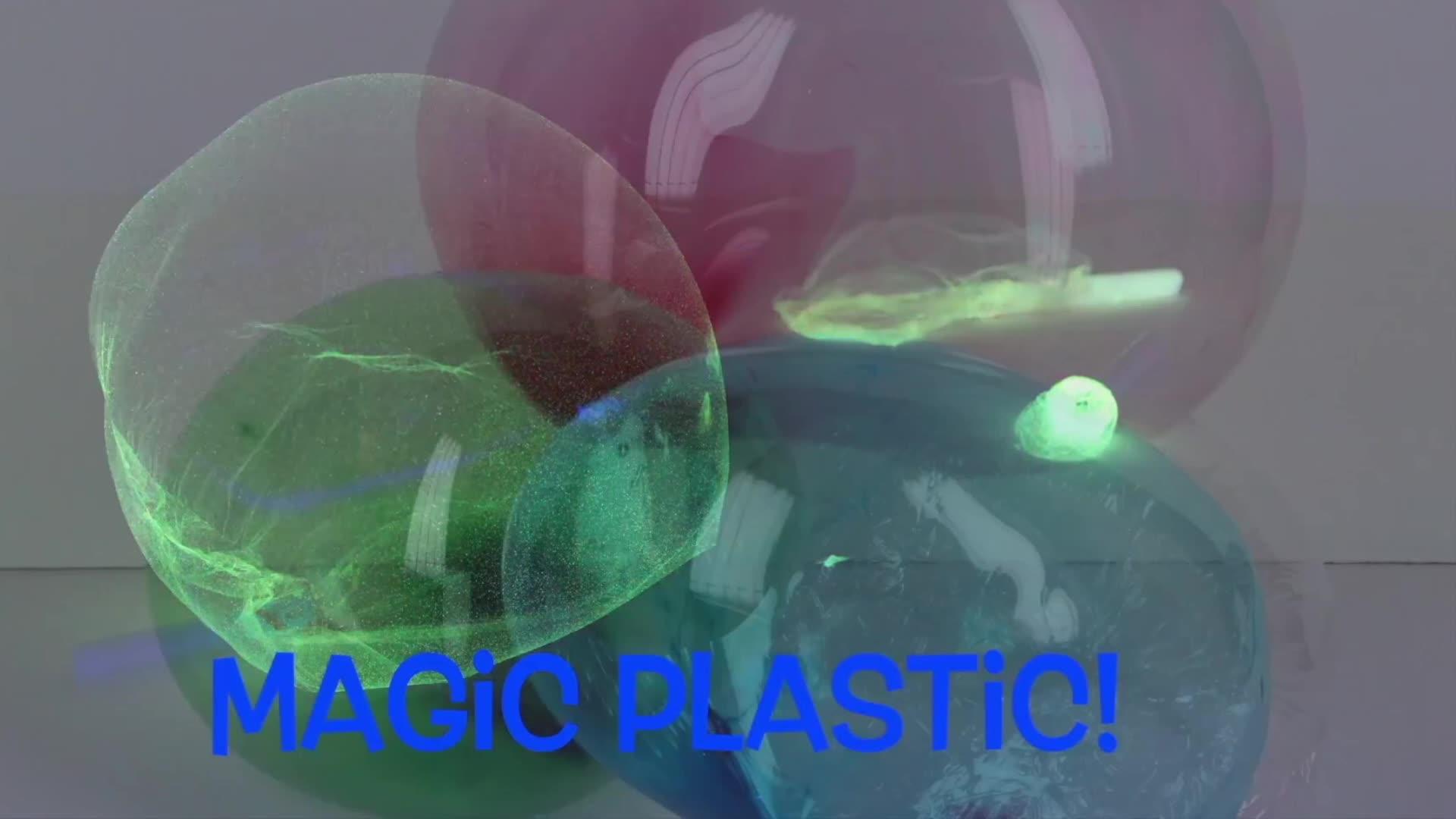 Ballon en plastique magique modelant le jouet de sculpture de bulle en plastique gonflant l'amusement