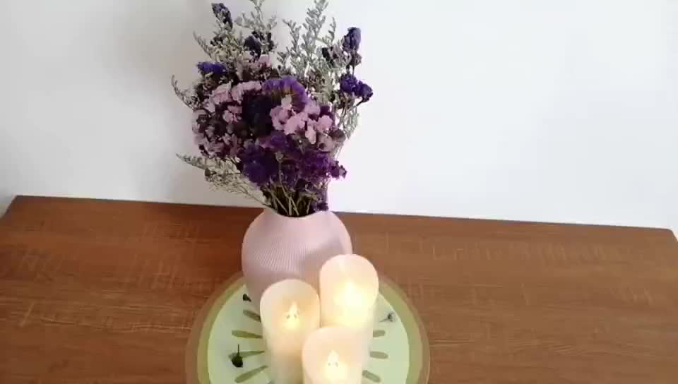 Hot sale cheap battery electronic led flame fragrant candle