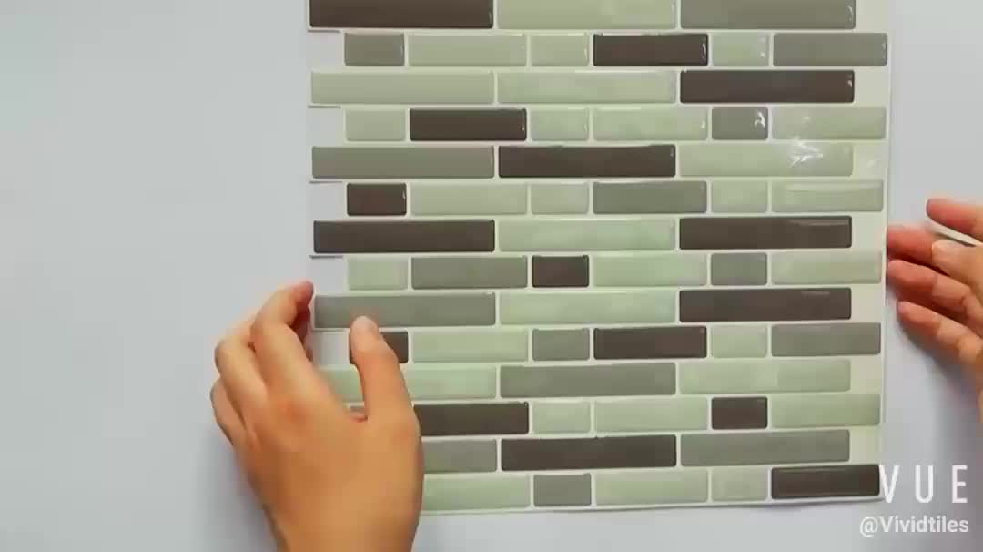 3D mosaic wall tile Self adhesive bathroom / study room wall decor