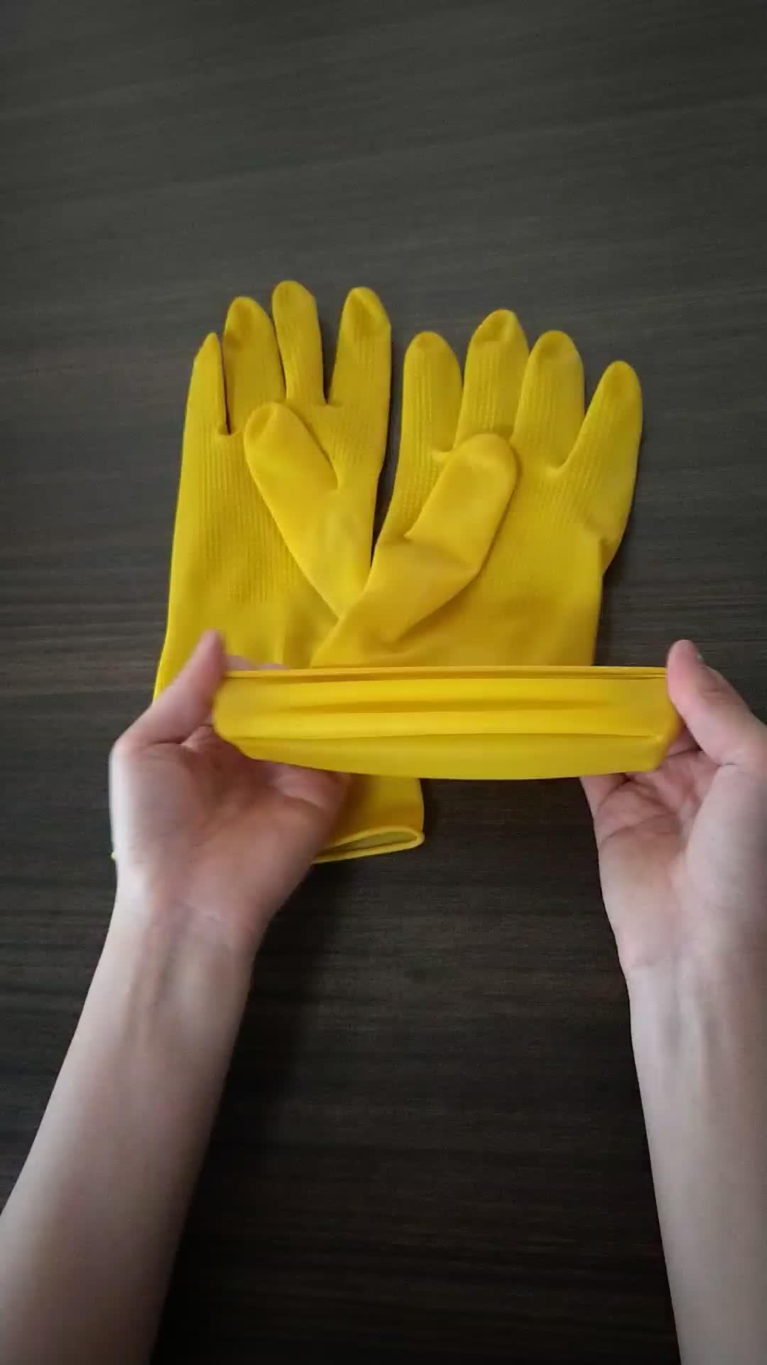 Di recente a buon mercato In Lattice Naturale Guanti Per Uso Domestico per la Casa di Pulizia/Per Uso Domestico Guanti In Lattice/guanti di Gomma Famiglia