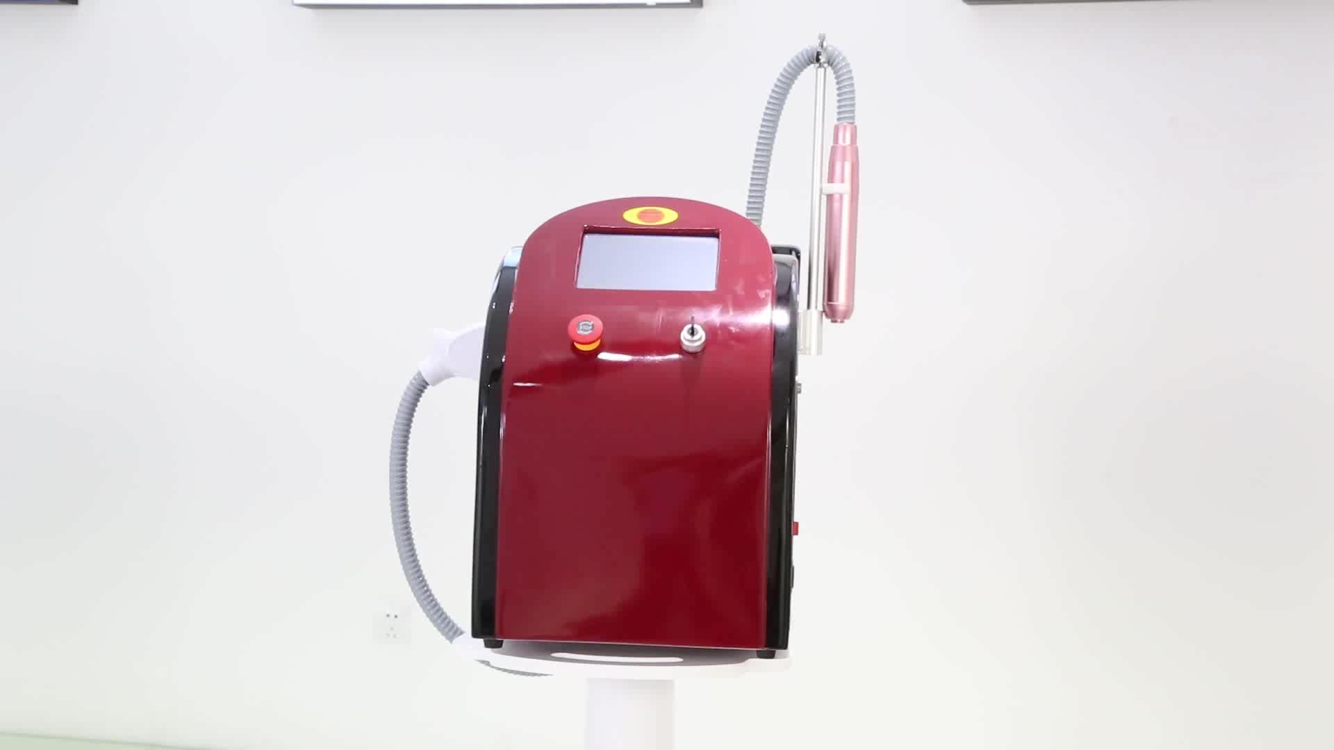 Xách tay picosecond máy laser q switched nd yag laser loại bỏ hình xăm máy giá