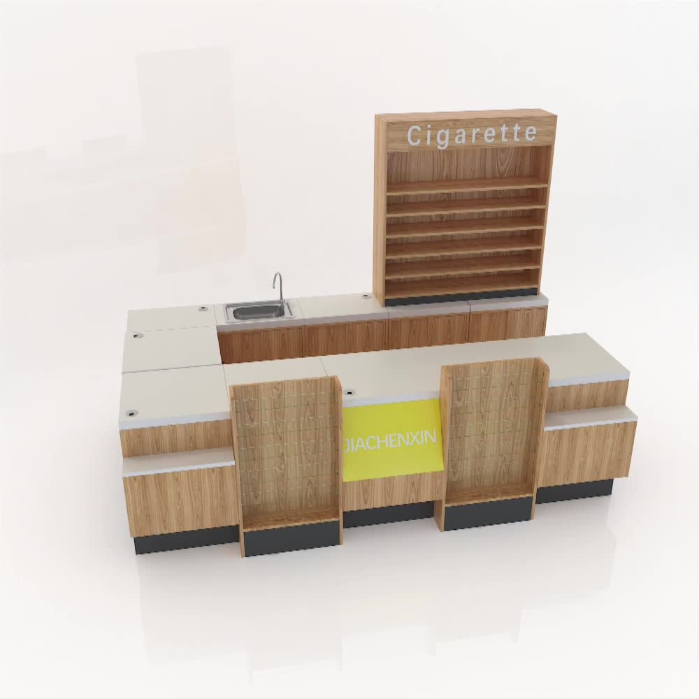 Convenience store checkout countersr convenience cashier desks for premium chain store