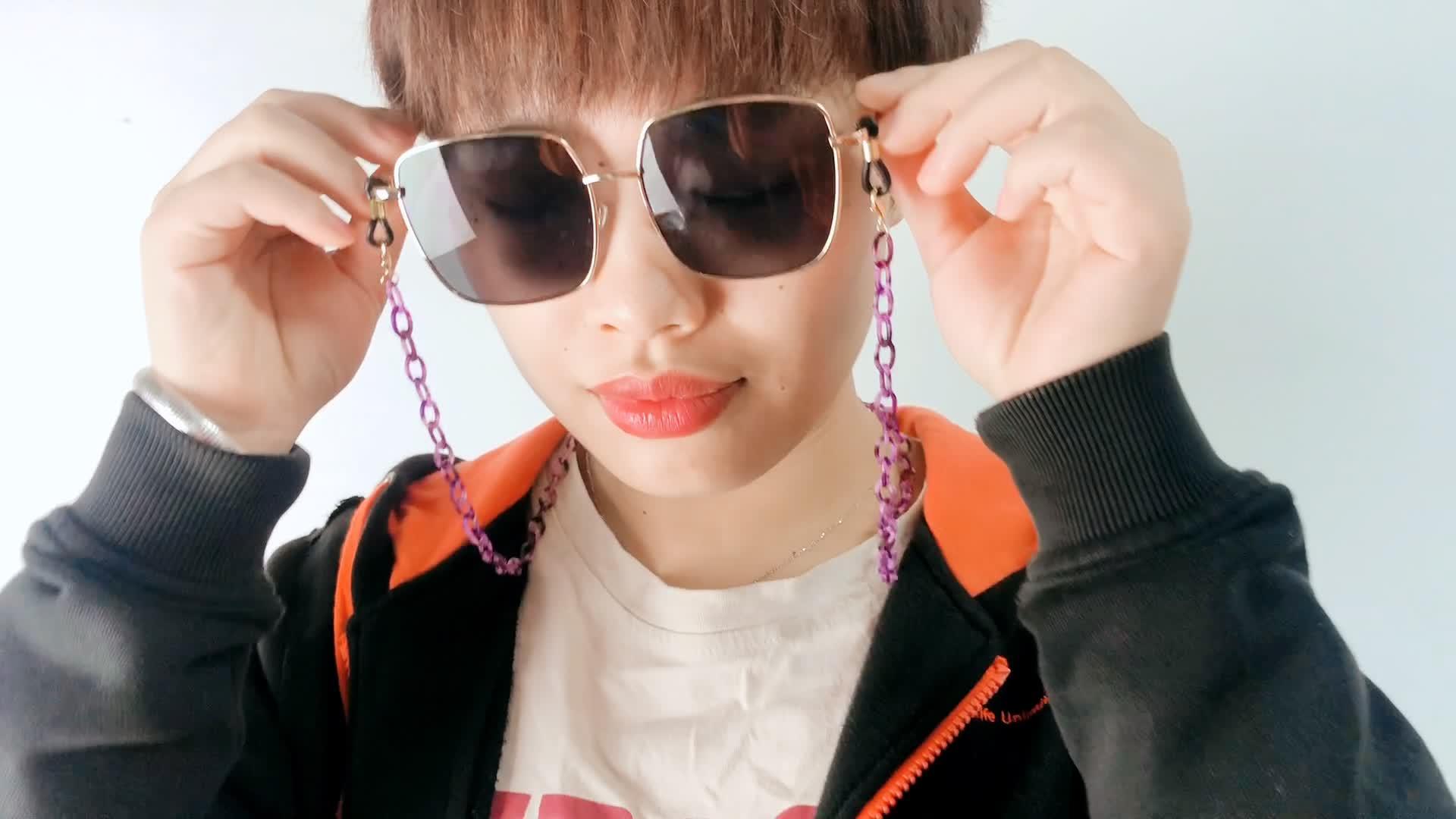 Glasses Custom Cord Acrylic Chain Necklace Acetate Sunglasses