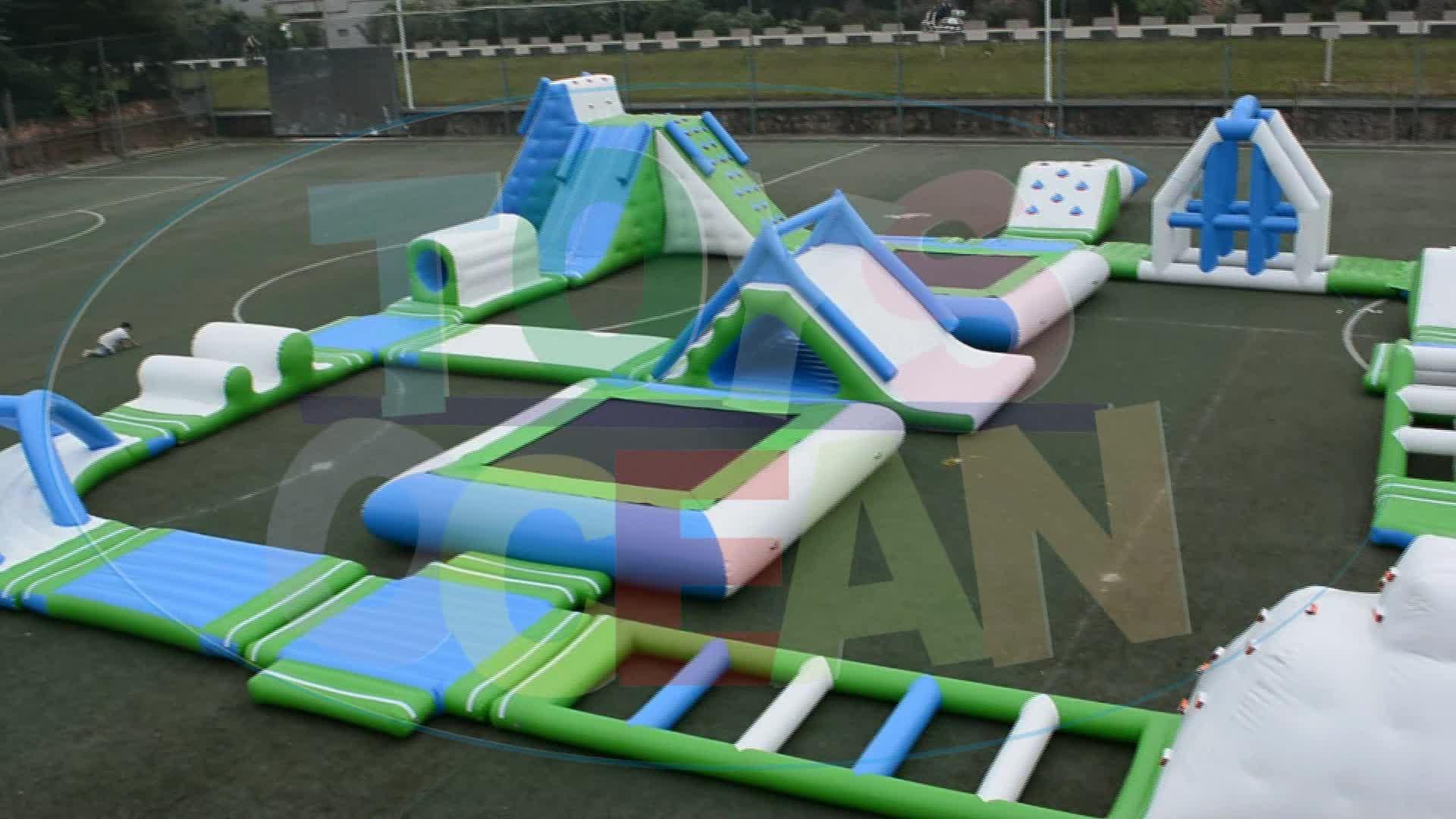 풍선 물 재생 장비 풍선 아쿠아 공원 거대한 부동 공원