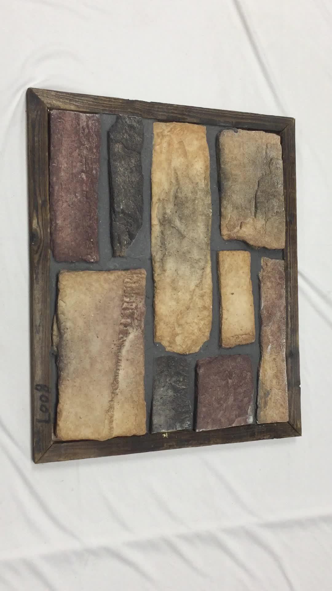 Nuovo modello prodotto cultura pietra roccia muro di mattoni tipo per la decorazione faux pietra per la parete