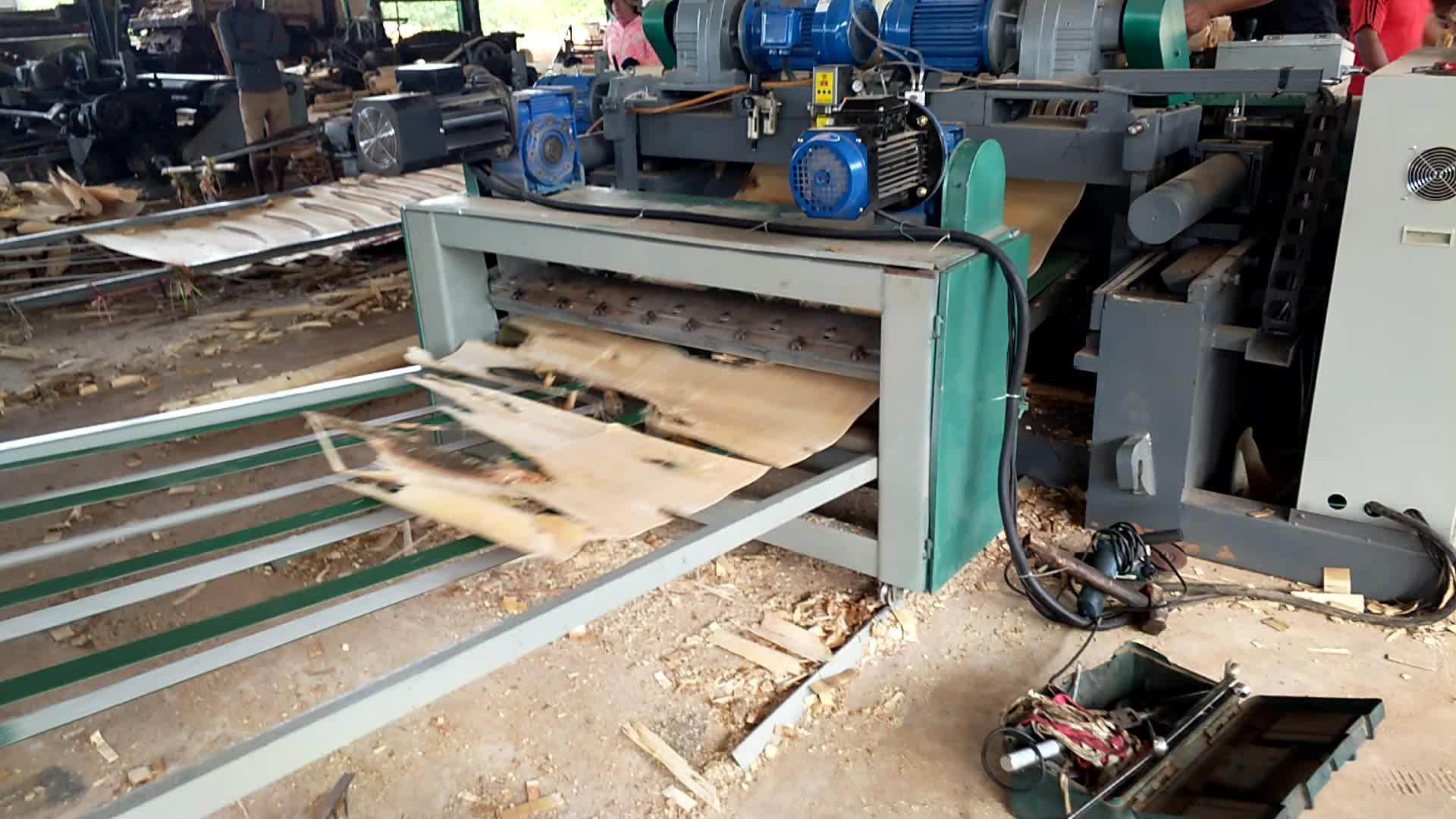 Automatische multiplex core fineer productielijn/hout log peeling machine/houtbewerking machines