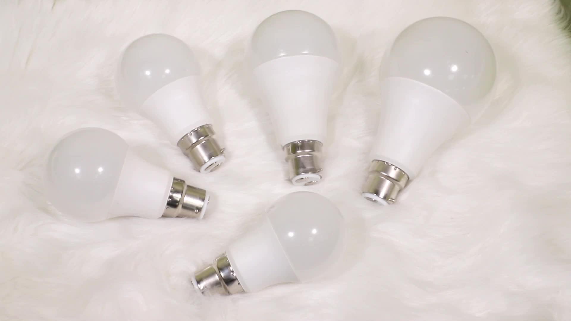 Bán Nóng Năng Lượng Tiết Kiệm Nhôm 5 W 7 W 9 W 12 W 15 W 18 W E27 LED Bóng Đèn đèn