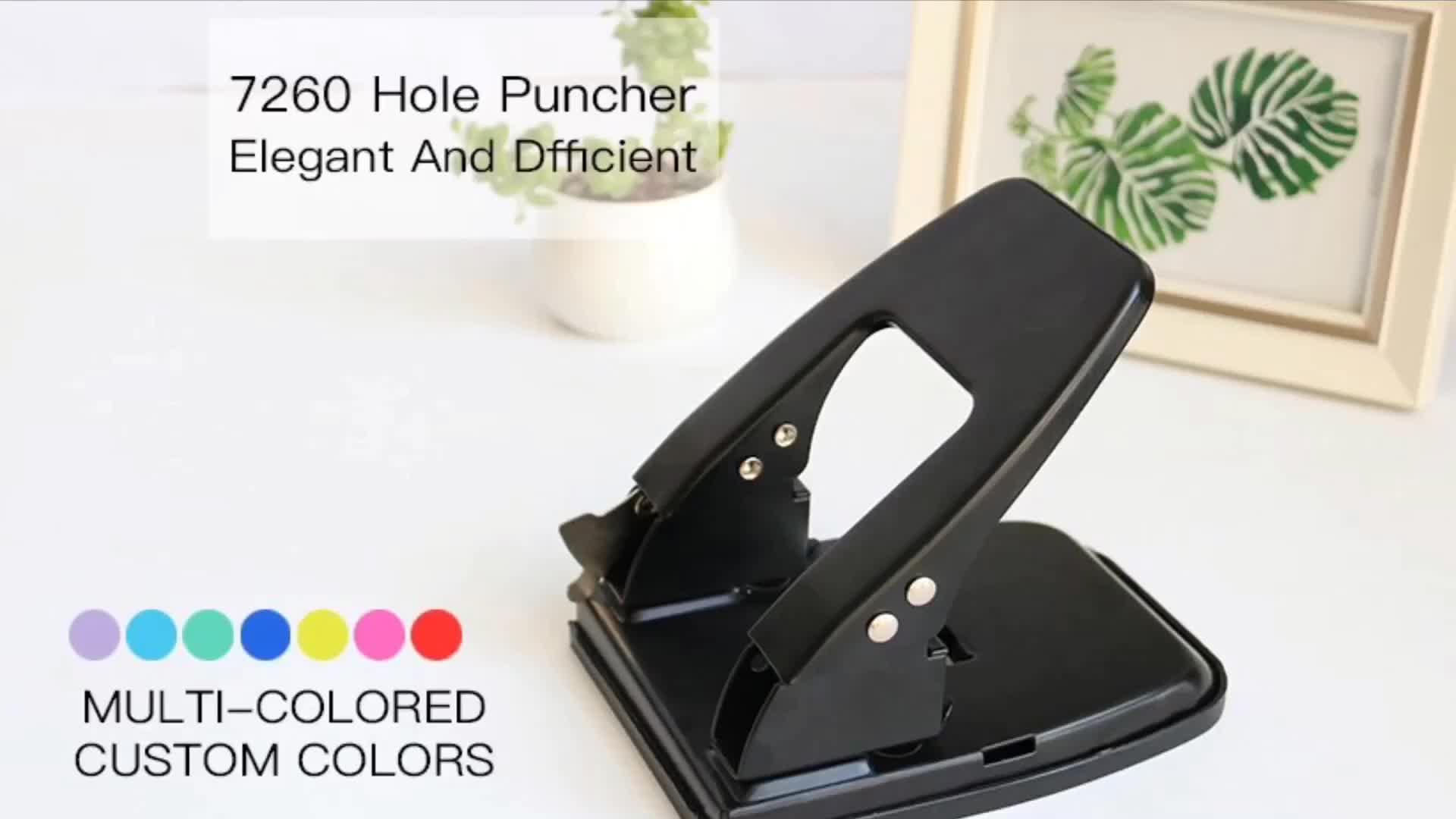 Vendita calda custom design in metallo pugno di carta Fantasia su ordine di disegno del foro del mestiere pugno di carta
