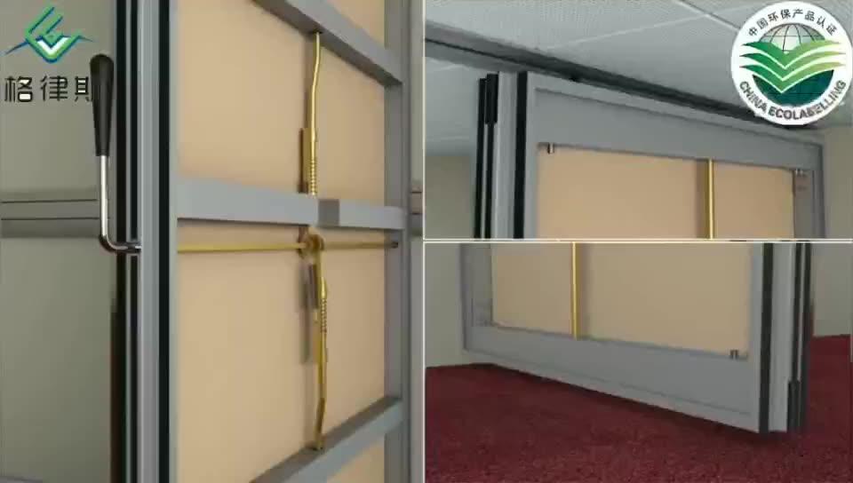 Acústica se paredes correderas divisor de sala de puertas de partición operable pared corredera pista diseños muebles de partición de pared