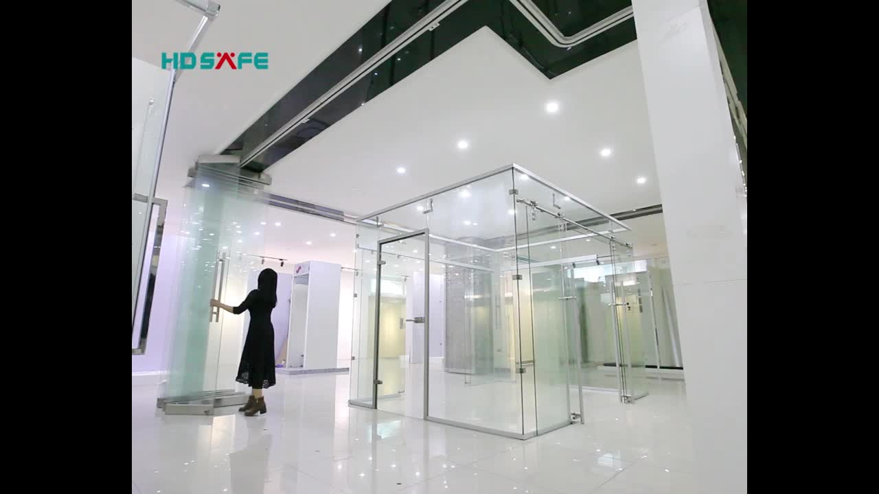 High Quality Stainless Steel Folding Glass Door Hardware Glass Roller Door Track