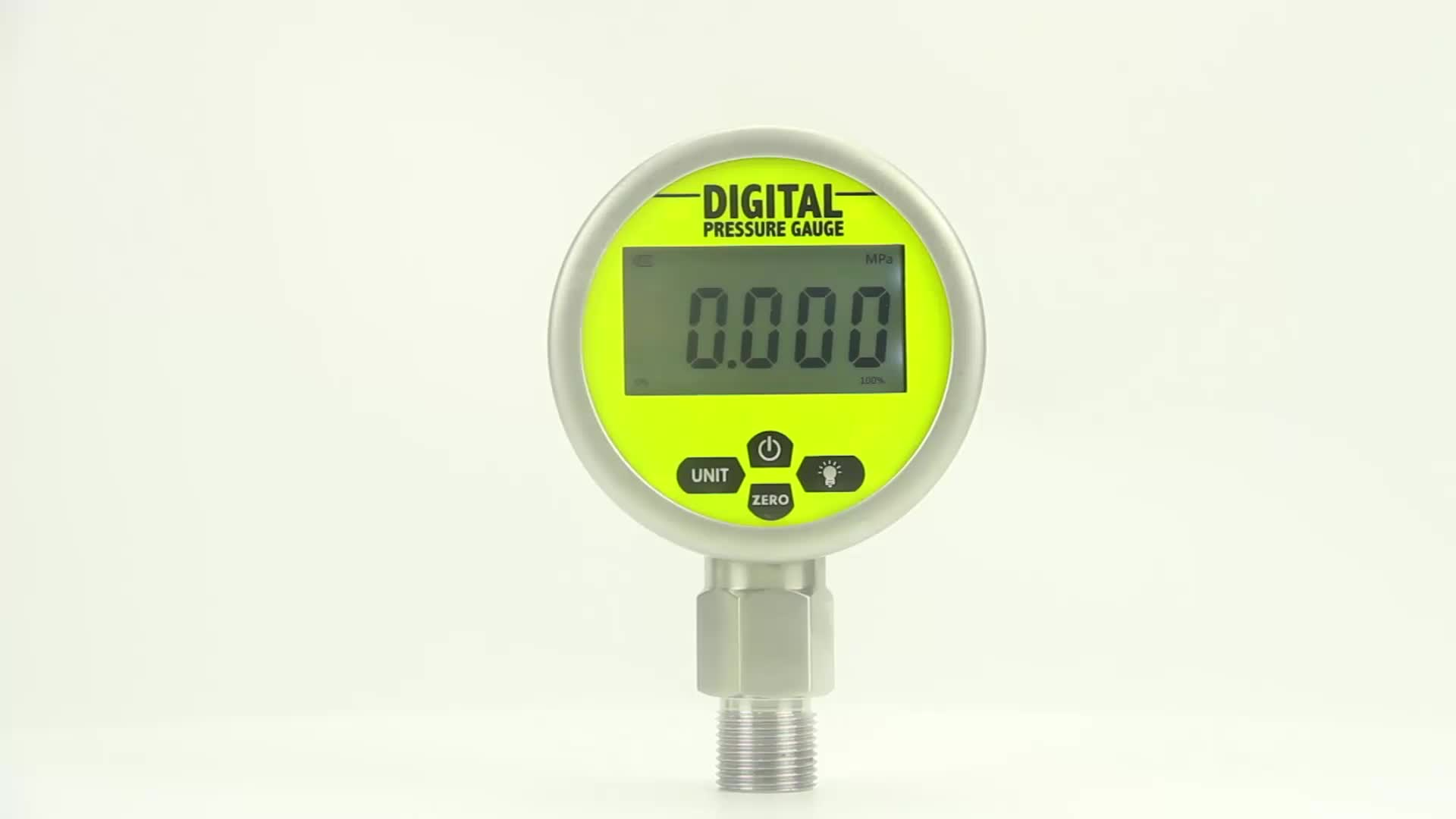 High precision digital pressure gauge with battery powered