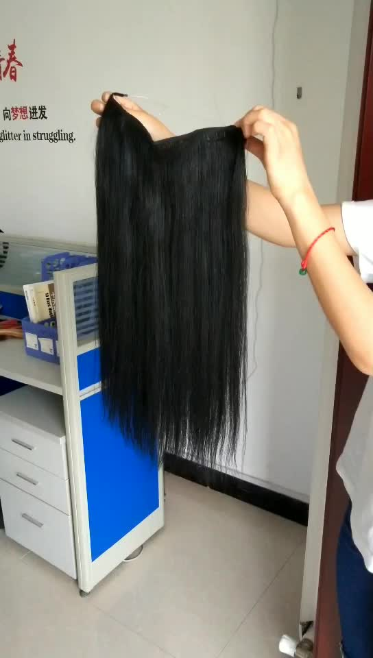 Crown top grade 11a hair extensions no glue 100% virgin human hair