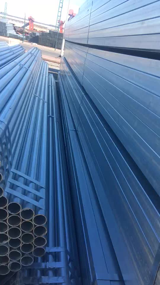 Hot Dip or Cold GI Galvanized Steel Pipe and Tubes for building