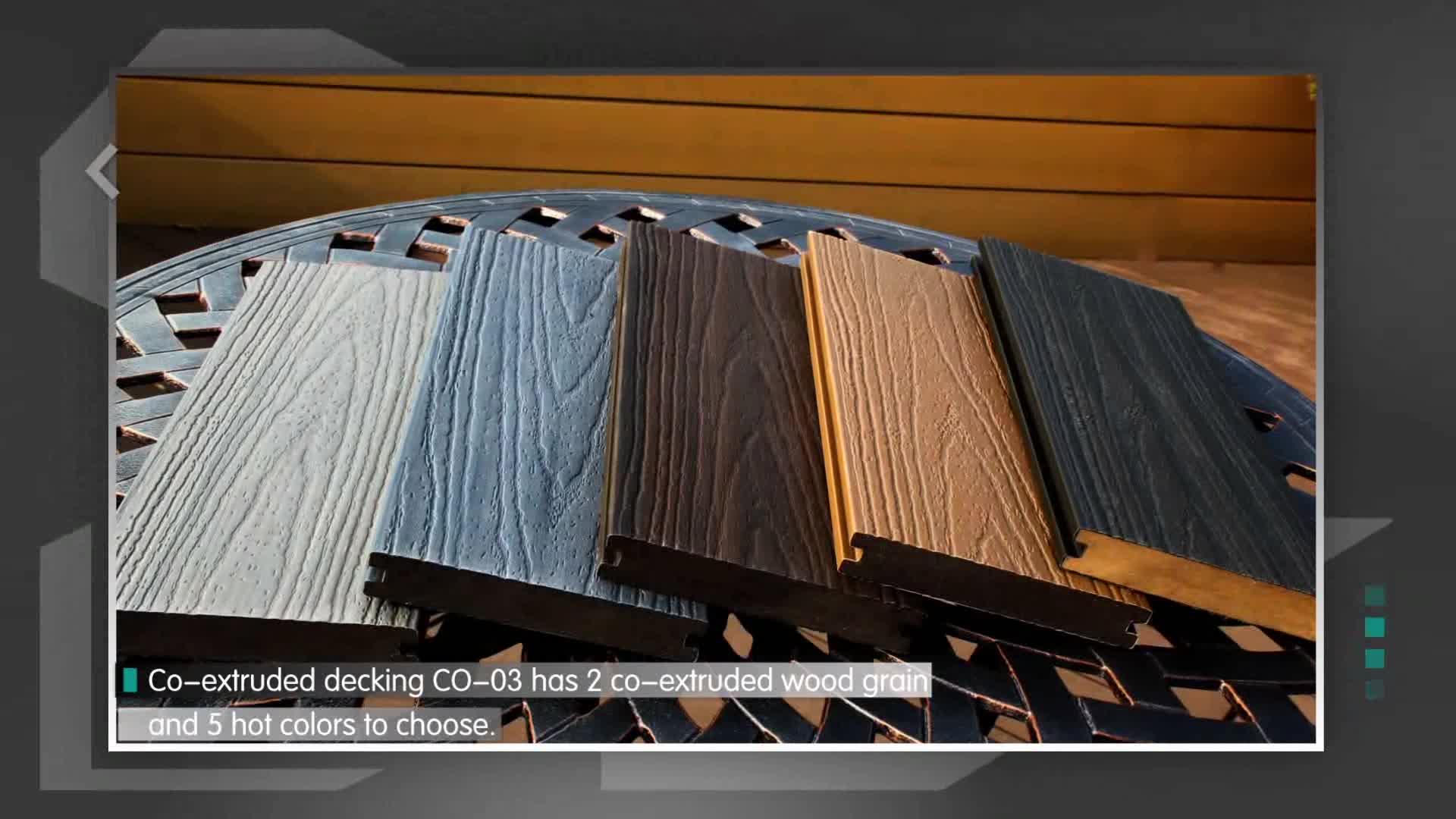 Nouveau Design Plancher Bricolage Cd En Bois Matériaux De Construction Wpc Par Co-extrusion