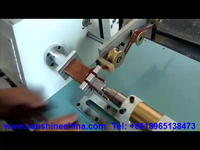 Single spindle CNC precision automatic high torsion long traverse length flat wire coil winding machine