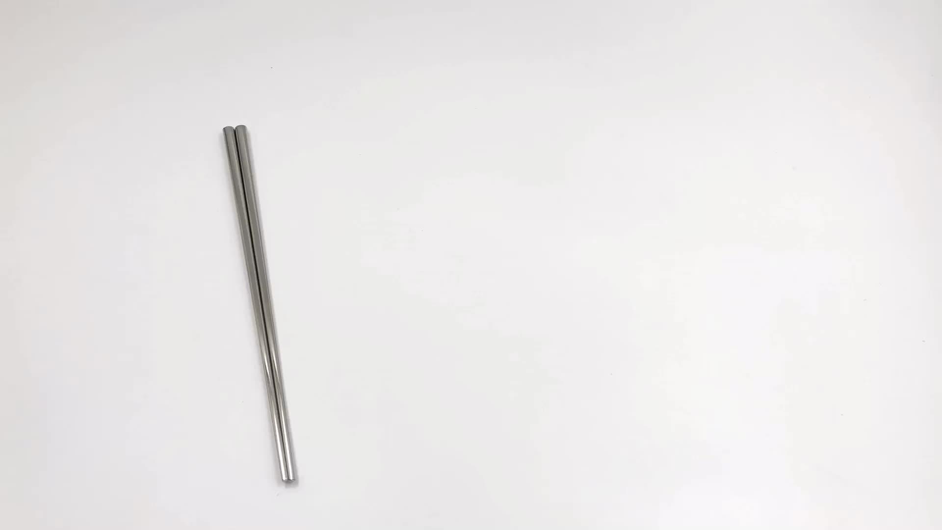 Korean Custom Color Stainless Steel Metal Titanium Chopsticks for Sushi Wedding Gift Souvenirs