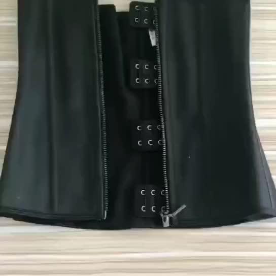 Hot Selling Women Zipper Tummy Control  Compression Body Shaper Waist Trainer